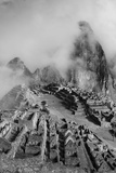 Clouds Drift over the Pre-Columbian Inca Ruins of Machu Picchu