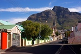 View of Devil's Peak from the Woodstock Neighborhood of Cape Town  South Africa