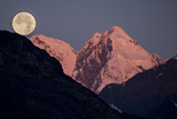 Moonset Behind Mount Salisbury in Glacier Bay National Park