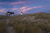 Sunset at Race Point Light in Providence  Massachusetts