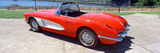 Restored Red 1959 Corvette  Side View  Portland  Oregon