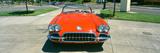Restored Red 1959 Corvette  Front View  Portland  Oregon