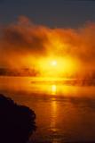 Fog Hangs over the Missouri River at Dawn