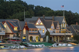 Boathouse Row at Dusk on Schuylkill River in Philadelphia