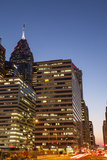 Highrise Office Towers and Hotels in the Downtown Financial District of Philadelphia