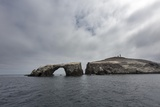 A Fogbank Approaching the Iconic Arch Rock in Channel Islands National Park