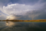 Clouds over a Lake in the Remote Hills of Nebraska