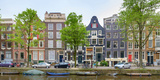 Houses on the Brouwersgracht  Amsterdam  North Holland  Netherlands