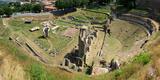 Ruins of Roman Theater  Volterra  Tuscany  Italy