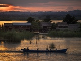 People in a Boat on the Irrawaddy River