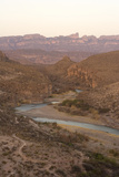 The Rio Grande River  with Mexico on the Left and the United States on the Right