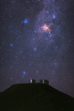 Night Sky over the Telescopes of the Cerro Paranal Observatory in the Atacama Desert