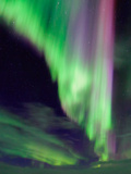 A Colorful Aurora Display in the Night Sky of Lapland  Sweden