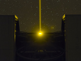 The Very Large Telescope at Night  Beaming a Laser to the Atmosphere for Adaptive Optics Operation