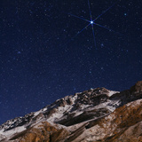 Sirius and the Constellation Canis Major Above the Alborz Mountains on a Winter Night
