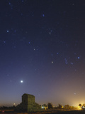 Venus and Winter Constellations  Orion  Taurus  and Auriga  Above the Tomb of Cyrus the Great