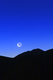 Crescent Moon at Dawn over the Alborz Mountains and the Haraz Valley of Iran
