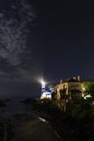 Night View of the Historic Santa Marta Lighthouse and Museum  on the Atlantic Coast