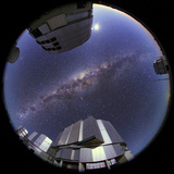 Fisheye View of the Milky Way over the Cerro Paranal Observatory
