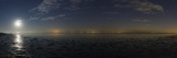 The Moon Rises over a Bay on the Caspian Sea Constellations Orion and Canis Major  on the Right