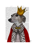 Greyhound Queen Reproduction d'art par Fab Funky