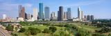 Houston Skyline  Memorial Park  Texas