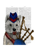 West Highland Terrier and Bagpipes