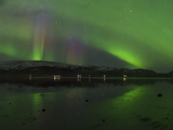 Aurora Borealis  the Northern Lights  Above a Lake in Southern Iceland