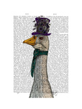 Goose in Purple Hat