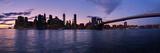New York Skyline from Brooklyn  New York City  New York State  Usa 2014