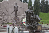 A Statue of President Haydar Aliyev at the Honorable Cemetery