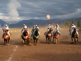 Berber Horseman Firing Rifles During Fantasia  Dades Valley  Morocco