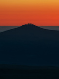 View of the Cerro Paranal Observatory's Silhouette Against the Sunset