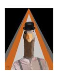 Clockwork Orange Goose Reproduction d'art par Fab Funky