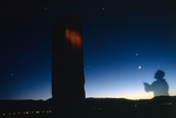 Ancient Inscriptions Illuminated at Night Planets and the Crescent Moon in a Rare Alignment