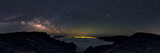 Panoramic 360-Degree View of the Milky Way's Rising Arc in a Starry Sky Above La Palma Island