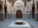 Al-Attarine Madrasa Built by Abu Al-Hasan Ali Ibn Othman  Fes  Morocco