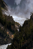 The Lower Yellowstone Falls and the Yellowstone River in the Grand Canyon of the Yellowstone