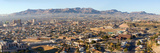Panoramic View of Skyline and Downtown of El Paso Texas Looking Toward Juarez  Mexico