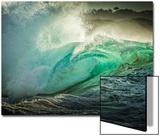 Wave Photo at Papohaku Beach, West End, Molokai, Hawaii Acrylique par Richard Cooke III