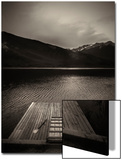 A Small Dock on Vermillion Lakes at Dusk Acrylique par Keith Barraclough