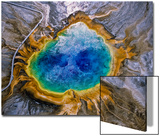 Aerial View of the Colorful Grand Prismatic Spring
