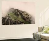 Clouds Drift over the Pre-Columbian Inca Ruins of Machu Picchu