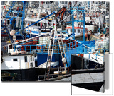 Densely Crowded Fishing Boats Moored in Tangier Fishing Harbour  Tangier  Morocco