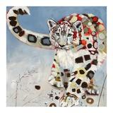 Léopard des neiges Reproduction d'art par Britt Freda