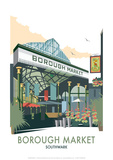 Borough Market - Dave Thompson Contemporary Travel Print Giclée par Dave Thompson