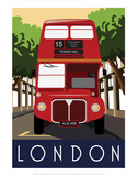 London  Red Bus - White One Sugar Contemporary Travel Print