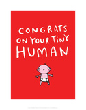 Tiny human - Katie Abey Cartoon Print