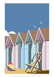 Beach Huts Close Up - Dave Thompson Contemporary Travel Print