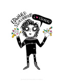 Edward Stickerhands - Katie Abey Cartoon Print